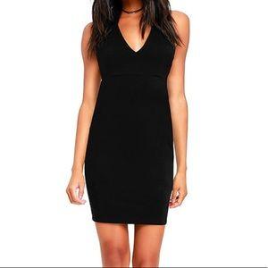 Fierce Black Bodycon Dress